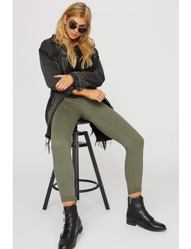 Rio Low Rise Push Up Olive Skinny Jean by Urban Planet