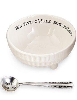 Circa Ceramic 2 Piece Guacamole Set by Mud Pie