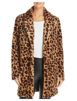 Kimora Faux Fur Leopard Coat by Re:Named