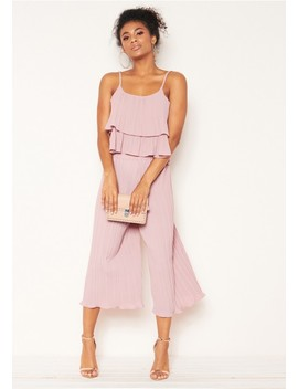 Una Pink Pleated Co Ord Set by Missy Empire