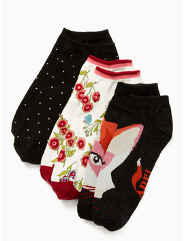 Fox No Show Sock Set by Kate Spade