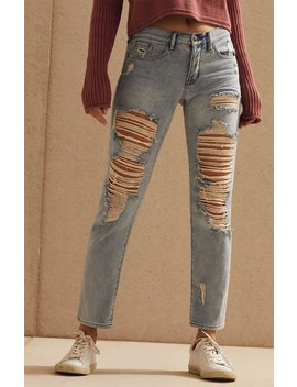 Thrashed Wash Boyfriend Jeans by Shop By Brand              Kendall & Kylie         Pac Sun           Pac Sun