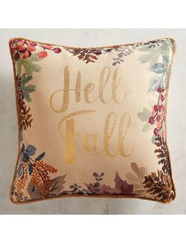 Golden Hello Fall Printed Pillow by Grateful Harvest Collection