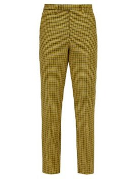 Slim Leg Houndstooth Wool Trousers by Raf Simons