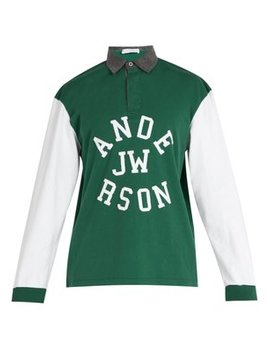 Logo Appliqué Cotton Polo Shirt by Jw Anderson