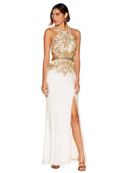 Embellished Cutout Gown by Boston Proper