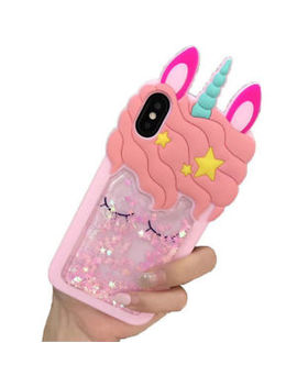 3 D Cartoon Quicksand Unicorn Soft Silicone Rubber Case Skin For I Phone X 8 7 6 5 by Ebay Seller