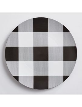 Black & White Buffalo Check Charger Plate by Pier1 Imports