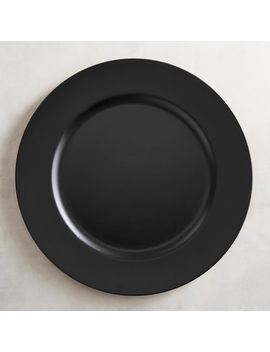 Black Charger Plate by Pier1 Imports