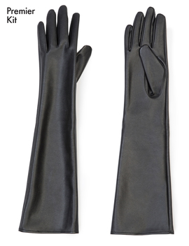 Faux Leather Opera Glove by Eloquii