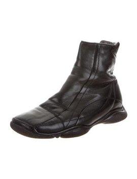 Prada Sport Leather Ankle Boots by Prada Sport