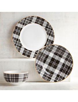 Dewsbury Black Plaid Dinnerware by Pier1 Imports