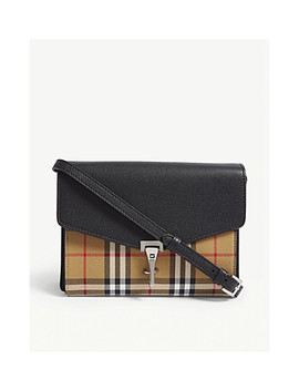 Macken Vintage Check And Leather Cross Body Bag by Burberry