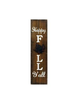 "Hello Fall Leaf 36"" Natural Wood Porch Sign by Pier1 Imports"