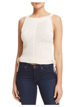 Side Tie Crochet Tank by Scotch & Soda