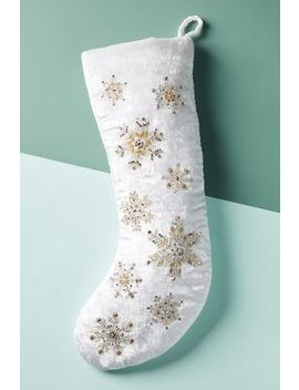 Embellished Velvet Stocking by Anthropologie