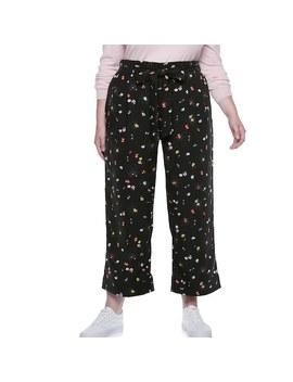 Plus Size Popsugar Paperbag Waist Wide Leg Crop Pants by Kohl's