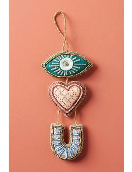 Eye Love You Beaded Ornament by Anthropologie