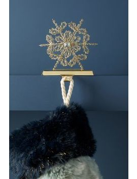 Beaded Snowflake Stocking Holder by Anthropologie