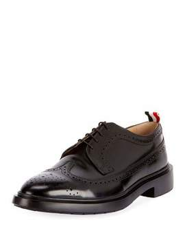 Men's Classic Long Wing Tip Brogue Oxford Shoes by Thom Browne