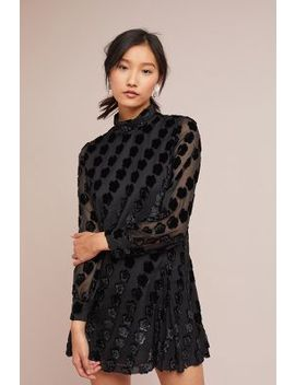 Anna Sui Daisy Mock Neck Dress by Anna Sui
