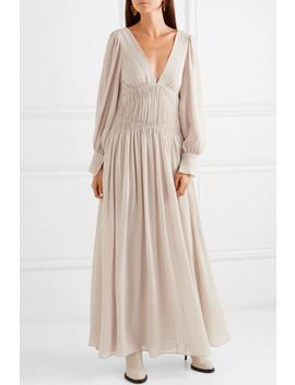 Carleigh Ruched Silk Georgette Maxi Dress by Stella Mc Cartney