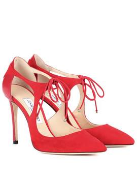 Vanessa 100 Suede Pumps by Jimmy Choo