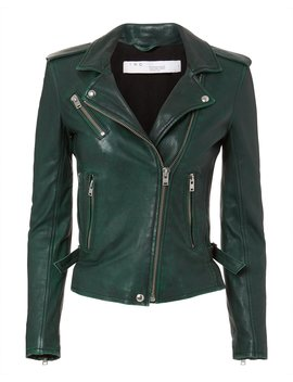 Newhan Green Leather Jacket by Iro