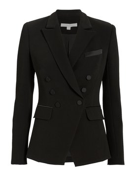 Satin Trim Black Blazer by Jonathan Simkhai