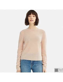 Women U Wool Crewneck Sweater by Uniqlo
