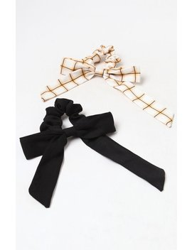 Black Tie Scrunchie 2 Pack by La Hearts