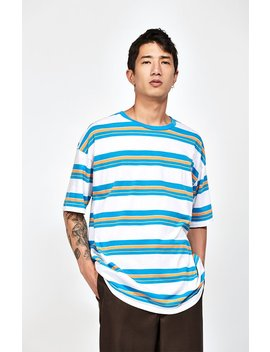 Gareth Stripe Oversized T Shirt by Pac Sun