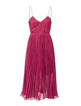 Pleated Midi Dress by Self Portrait