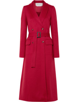 Joaquin Double Breasted Pleated Cashmere Coat by Gabriela Hearst
