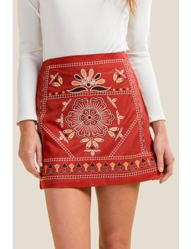 Diana Embroidered Front Skirt by Francesca's