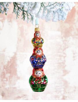 Stacked Matryoshka Dolls Christmas Ornament by Neiman Marcus