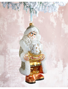 Santa With Globe Christmas Ornament by Neiman Marcus