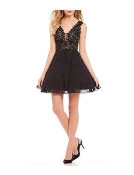 Social Applique Bodice Dress by Gb