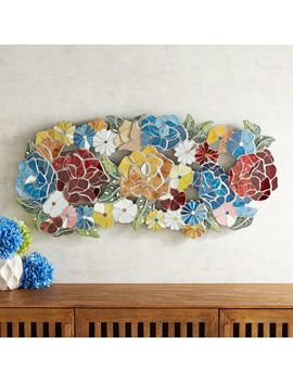 Sculpted Mosaic Blooms Wall Decor by Pier1 Imports