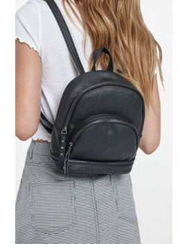 Mini Faux Leather Backpack by La Hearts