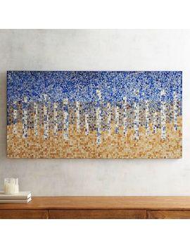 Blue Abstract Mosaic Wall Decor by Pier1 Imports