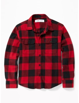 Built In Flex Plaid Flannel Pocket Shirt For Boys by Old Navy