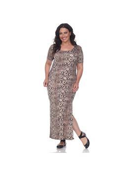 Plus Size White Mark Print Maxi Dress by Kohl's