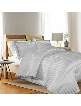 Kathy Ireland® Reversible Down Alternative Full/Queen Comforter Set In Platinum by Bed Bath And Beyond