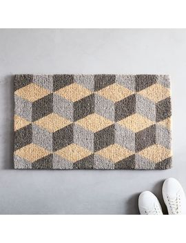 Optic Cube Doormat by West Elm