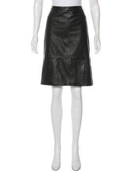 Leather Knee Length Skirt by Boss By Hugo Boss