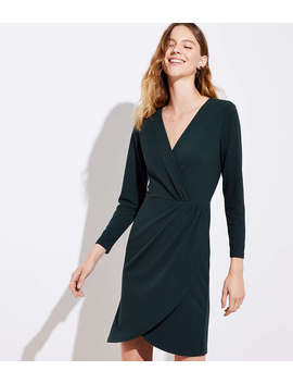 Shirred Wrap Dress by Loft