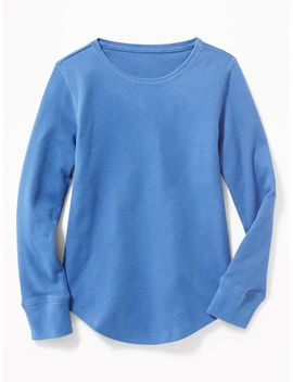 Solid Thermal Crew Neck Tee For Girls by Old Navy