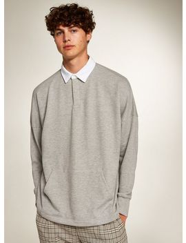 Gray Rugby Sweatshirt by Topman