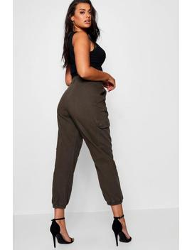 Plus Denim Cuffed Utility Pant by Boohoo